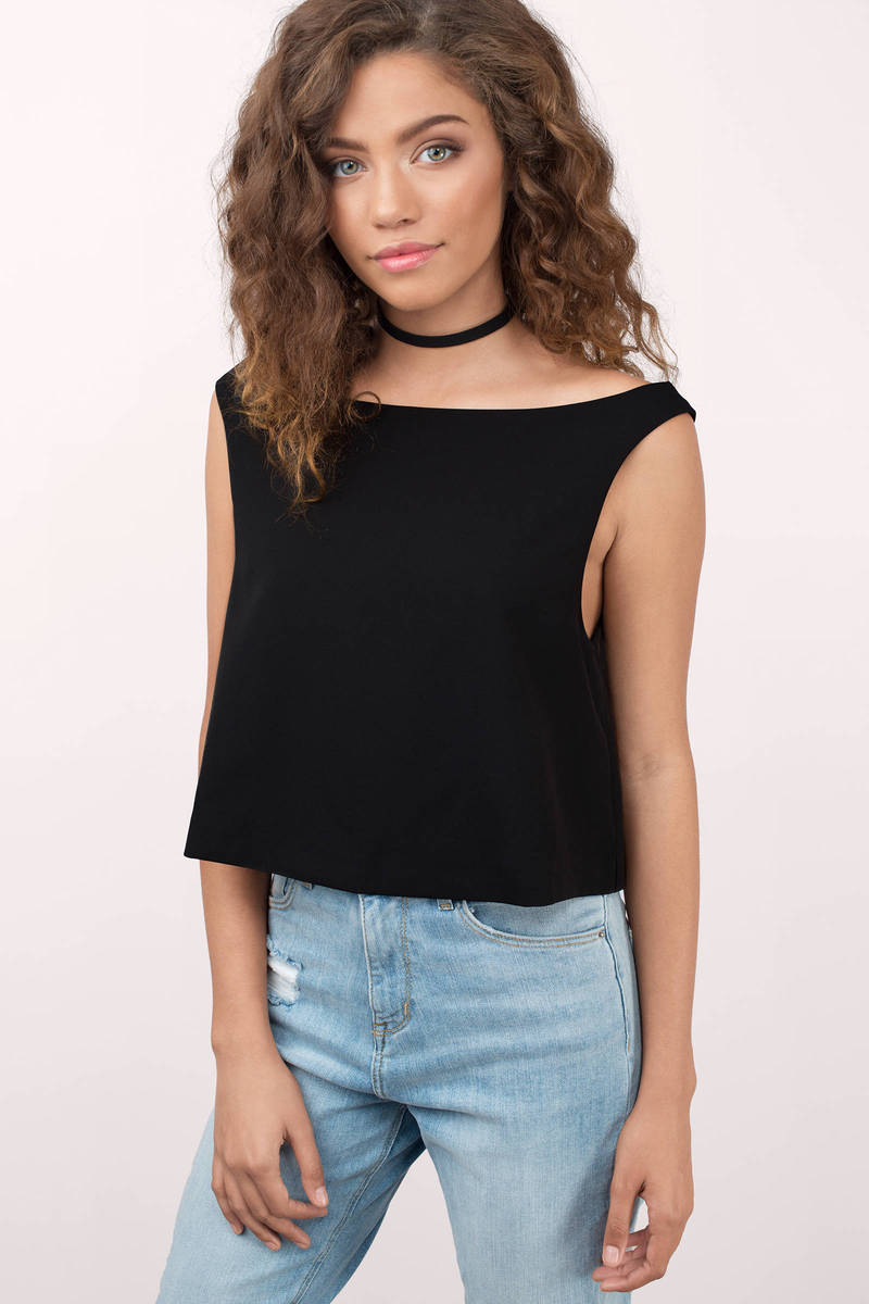 Stay Ready Black Crop Top