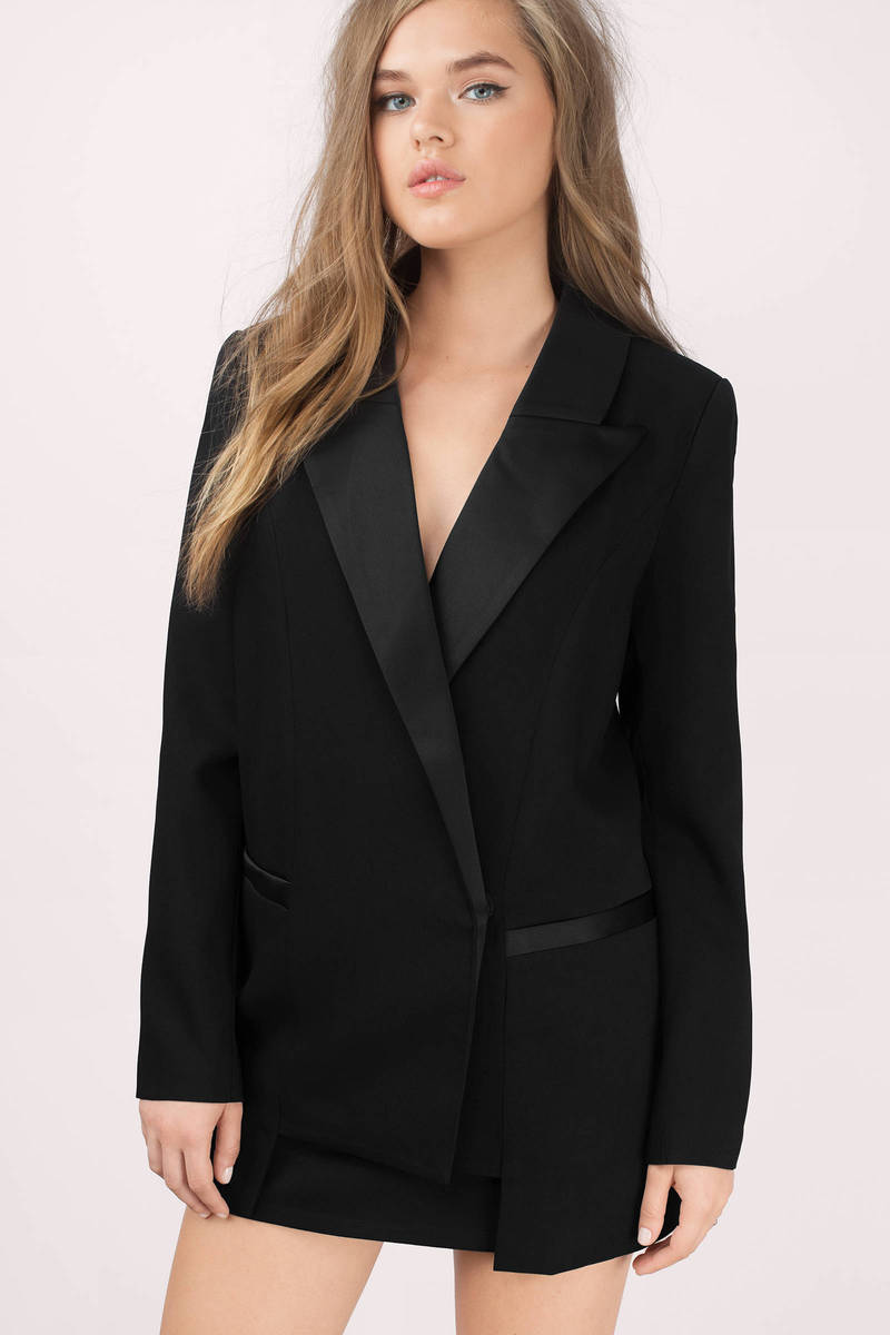 Bless'ed Are the Meek Bless'ed Are The Meek Step Pocket Black Blazer