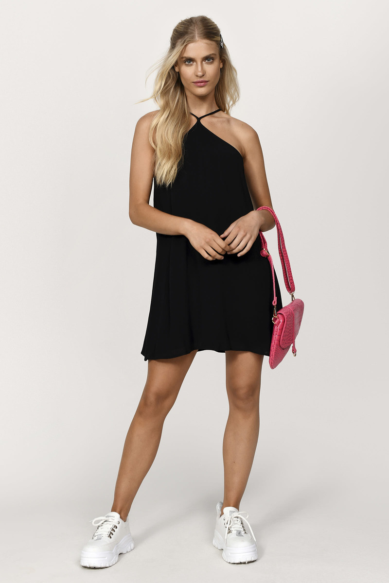 Stephanie Black Swing Dress