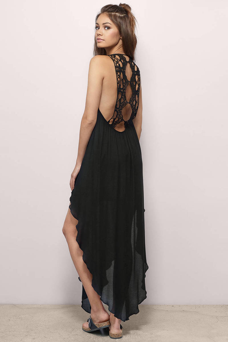 Sunstreak Stroll Black Maxi Dress