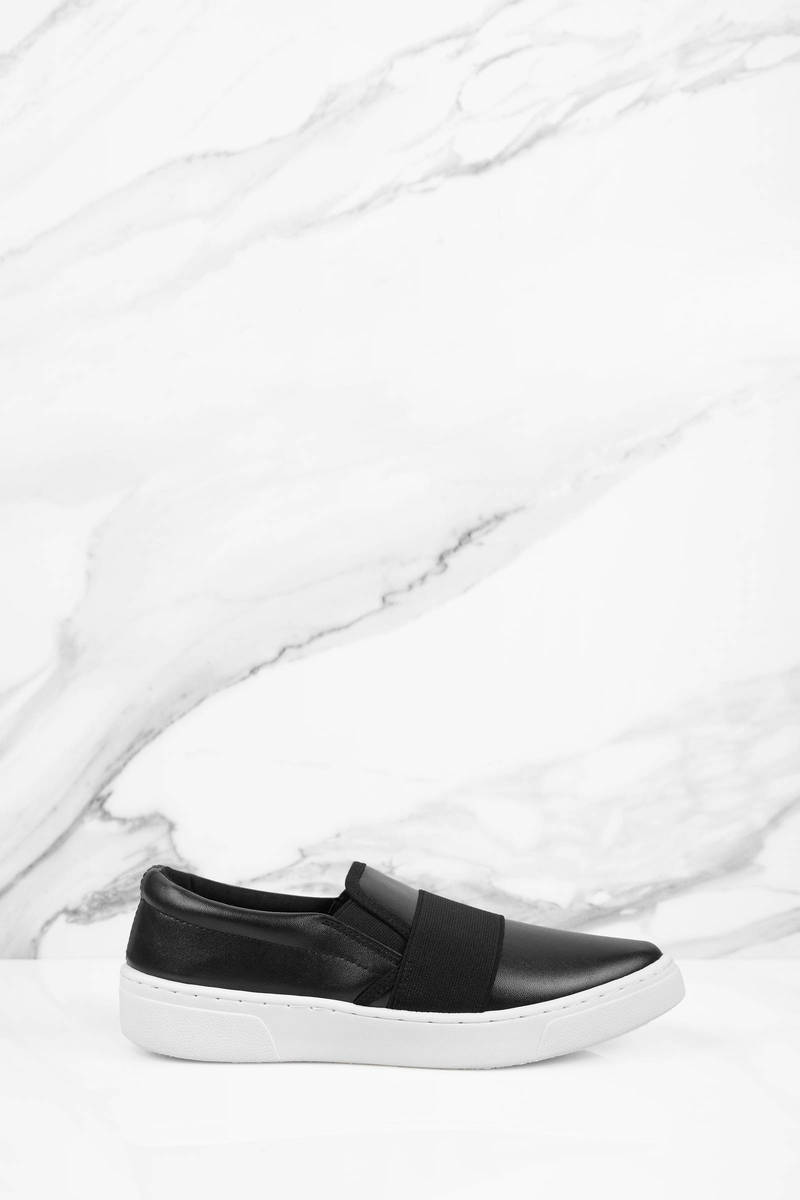 Suri Black Slip On Sneakers