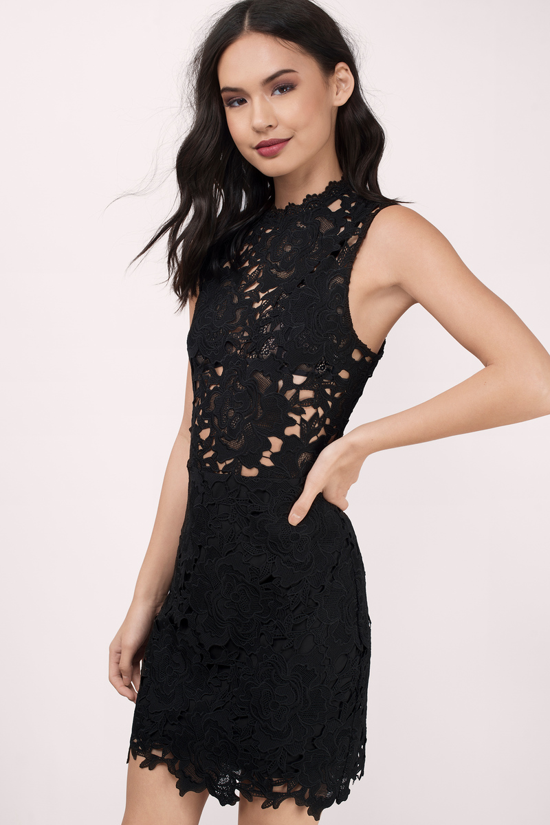 Sweet Fantasy Black Lace Bodycon Dress