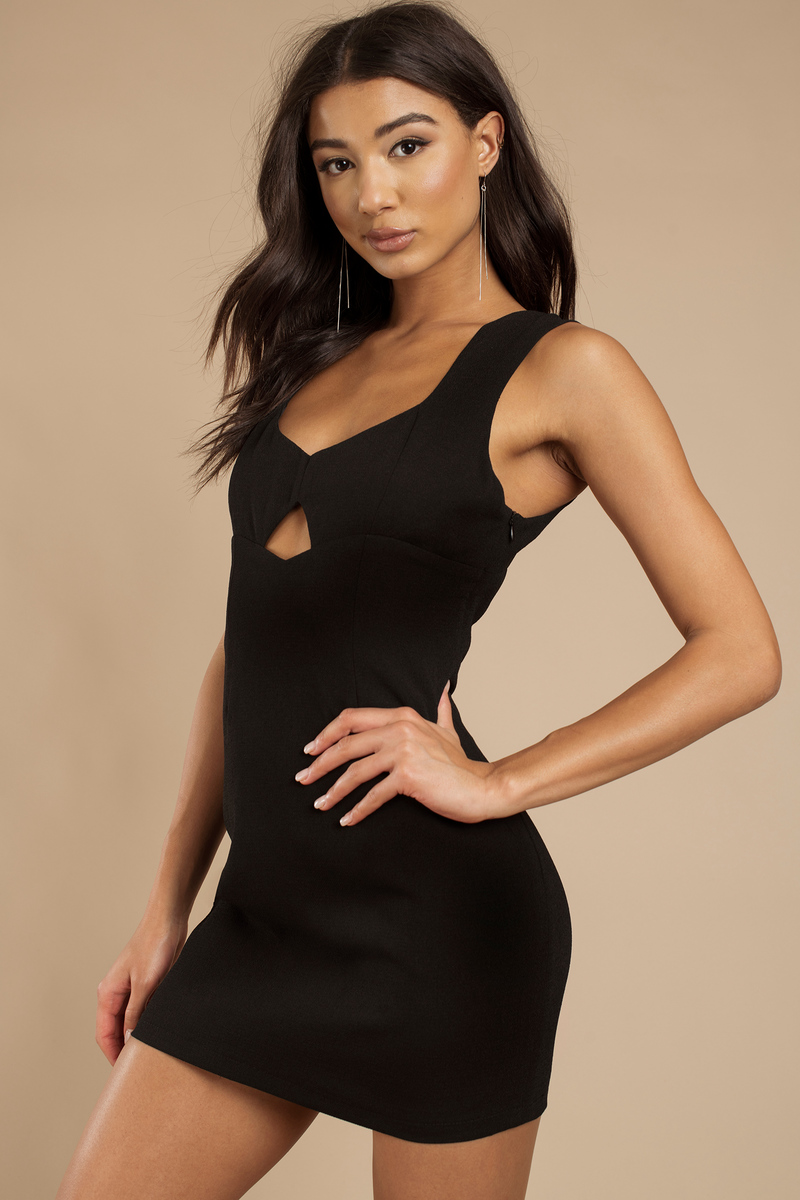 Sweet Mercy Black Mesh Bodycon Dress