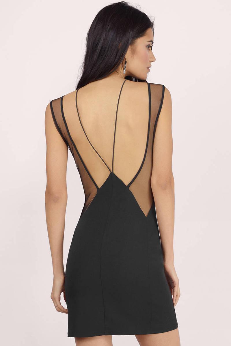 c3c537403c Cheap Black Bodycon Dress - Strappy Dress - Bodycon Dress -  12 ...