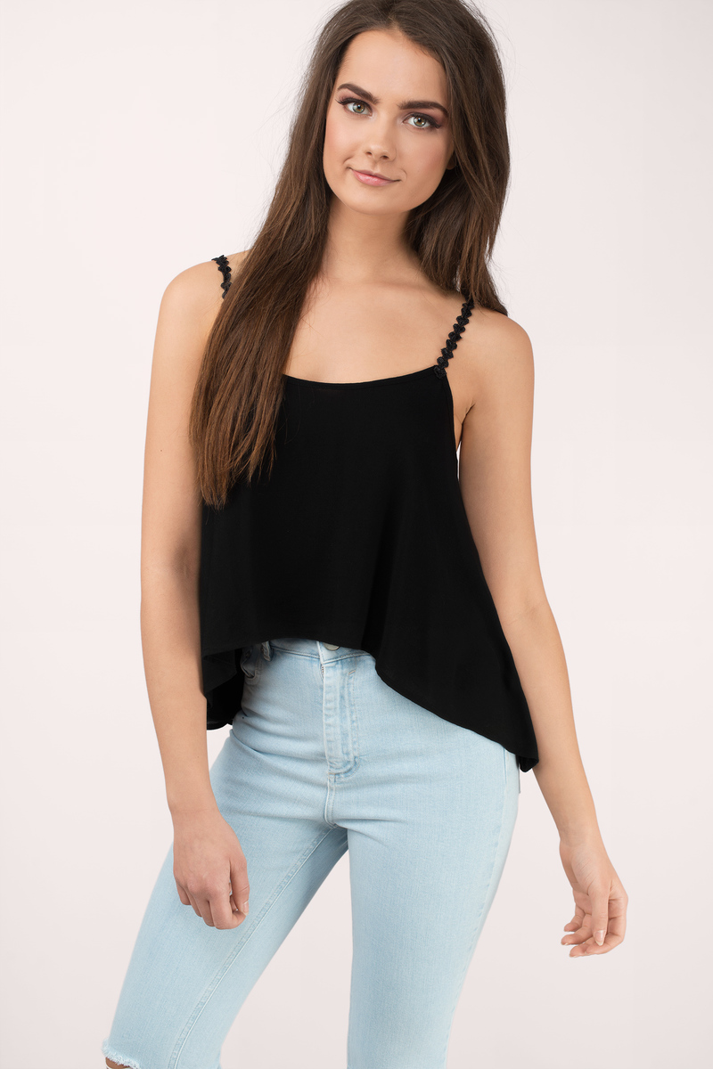 Sweet Sessions Black Cami Top