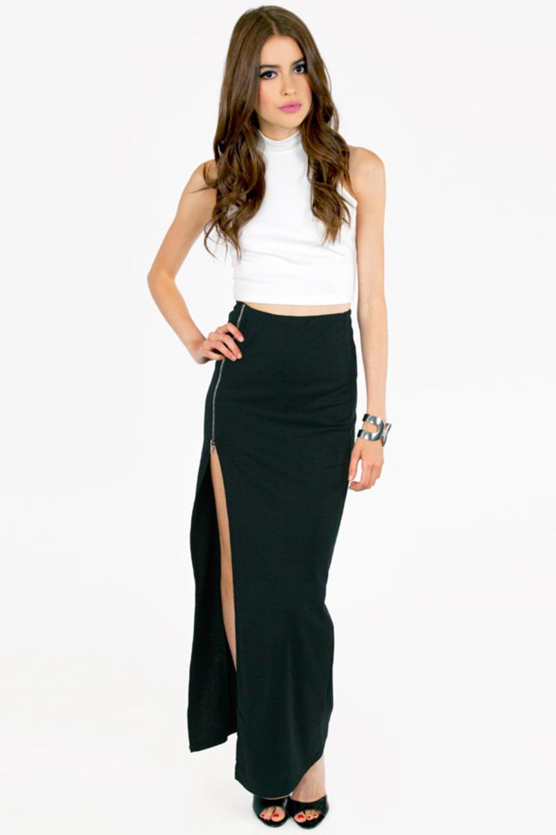 Take A Zip Maxi Skirt