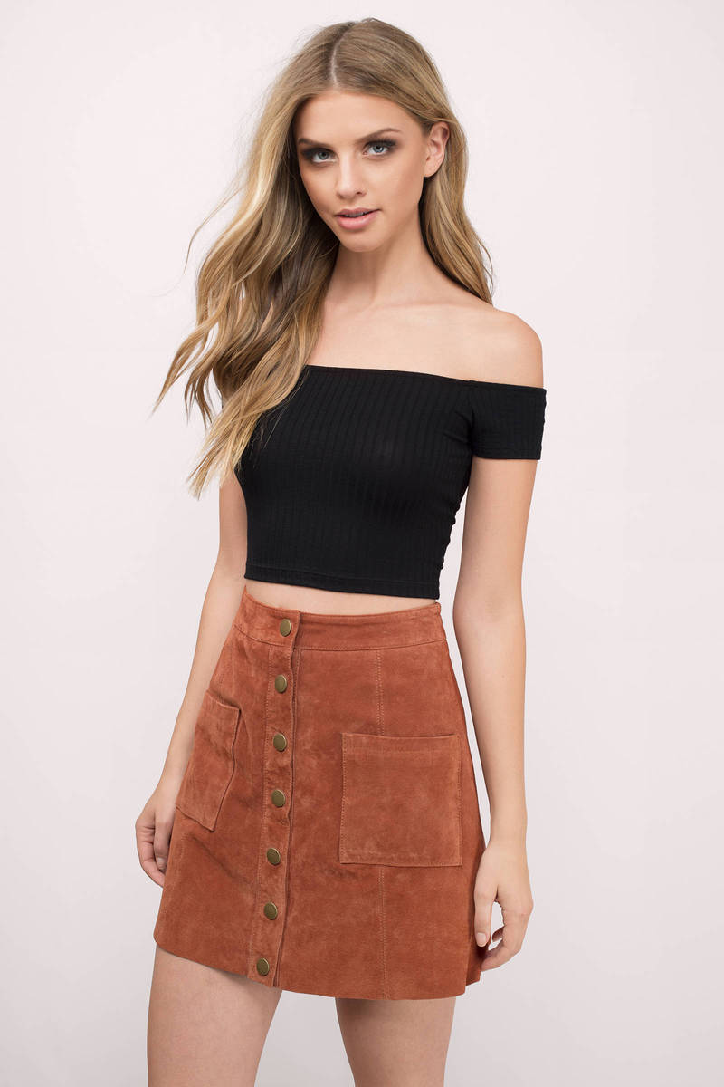 d43395a76a521b Black Crop Top - Black Top - Off Shoulder Top - Black Crop Top - $32 ...