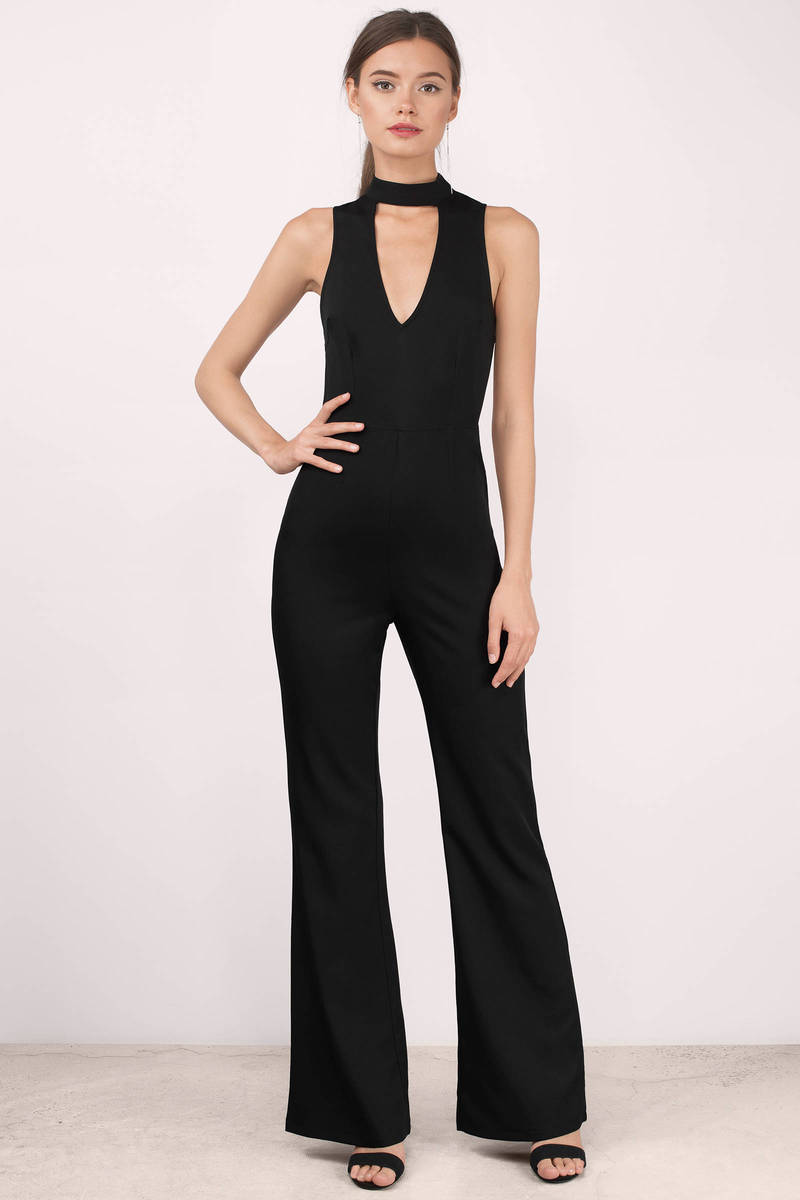 Tara Black Jumpsuit