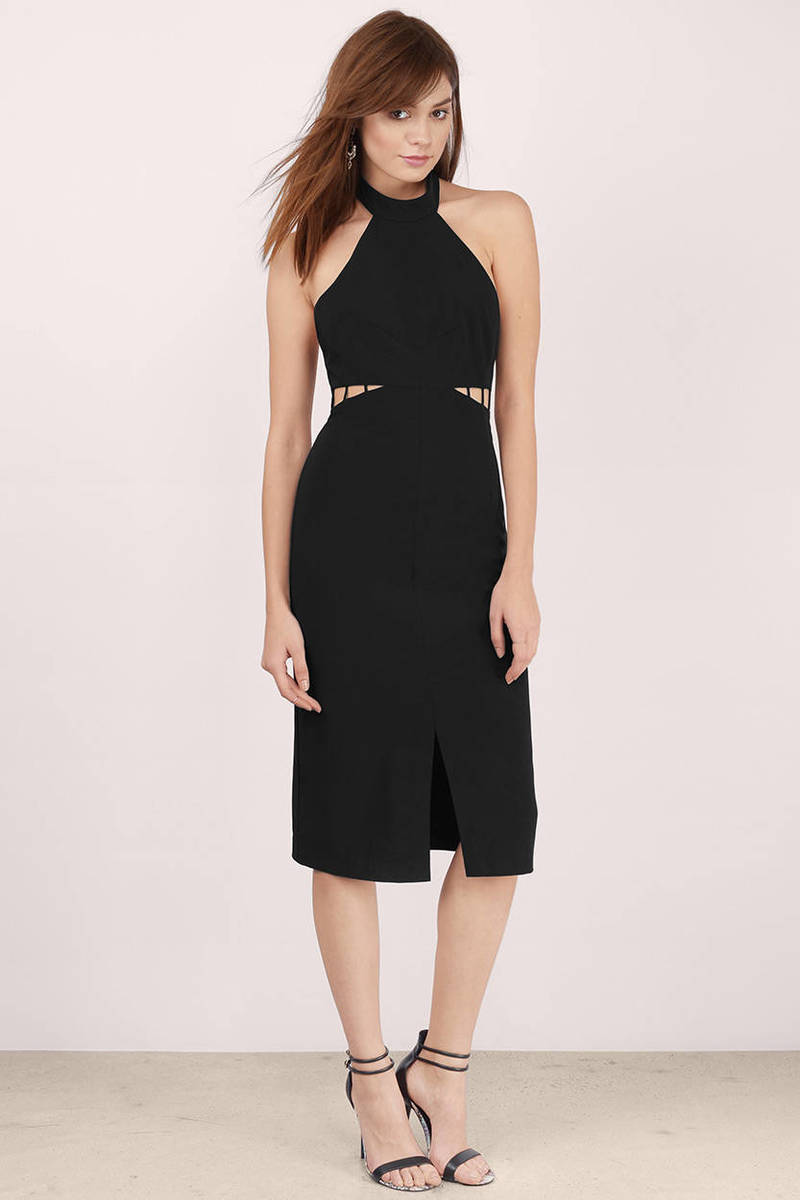 ISLA Isla The Avenue Black Midi Dress