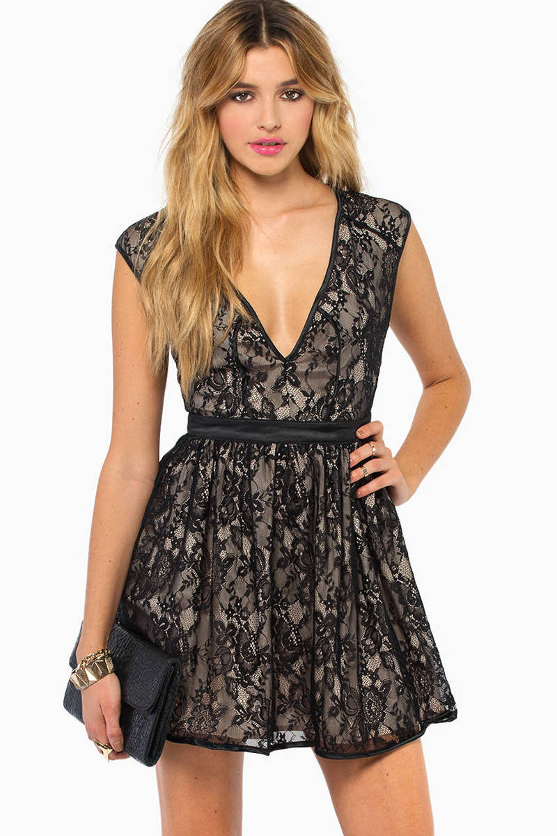 The Lace is On Skater Dress