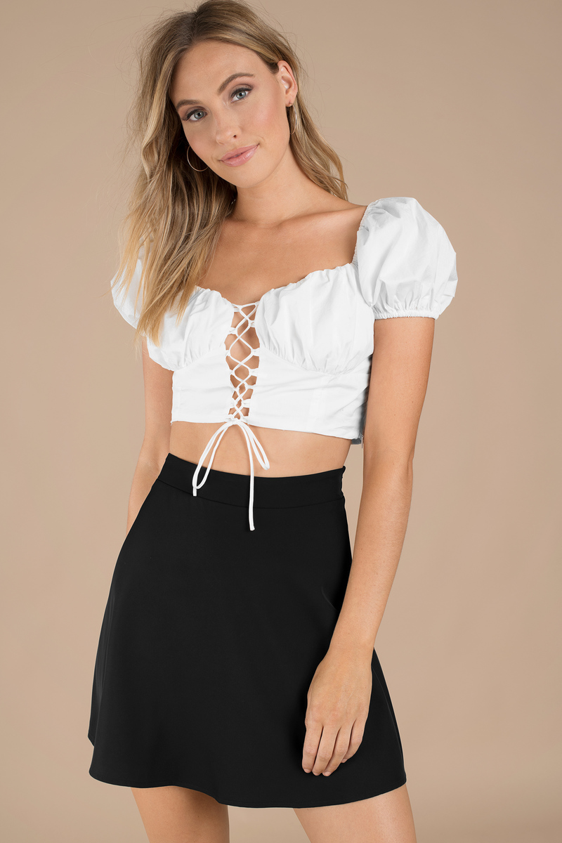 Cute Black Skirt Circle Skirt A Line Skirt Black
