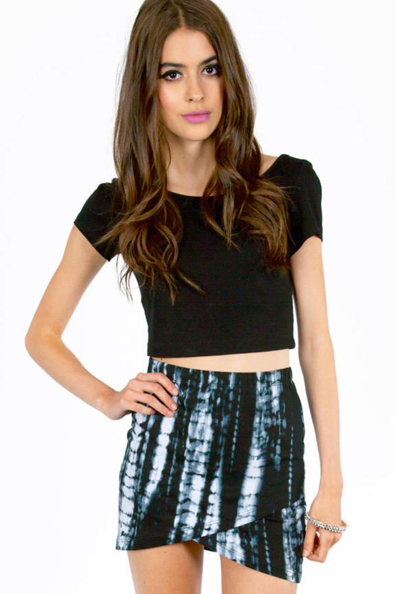 Tie Dye Wrap Mini Skirt