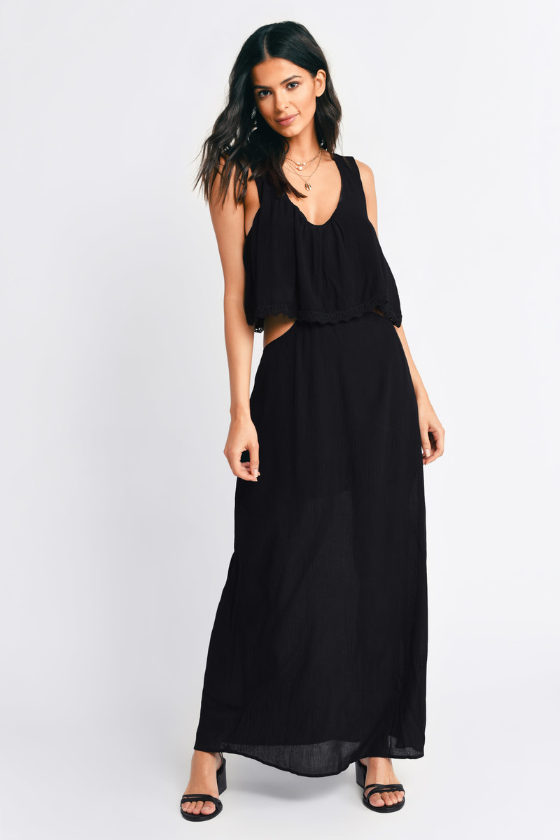 Time After Time Black Maxi Dress