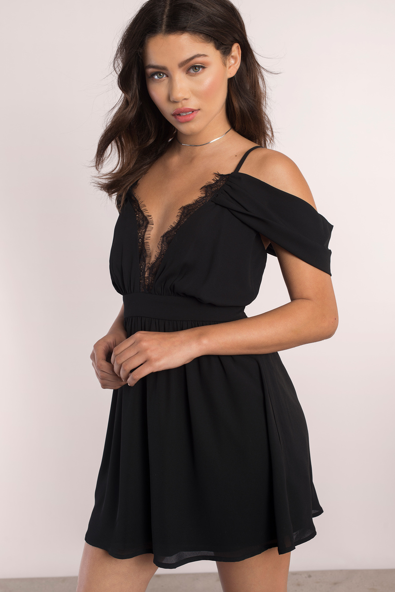 Tina Black Skater Dress
