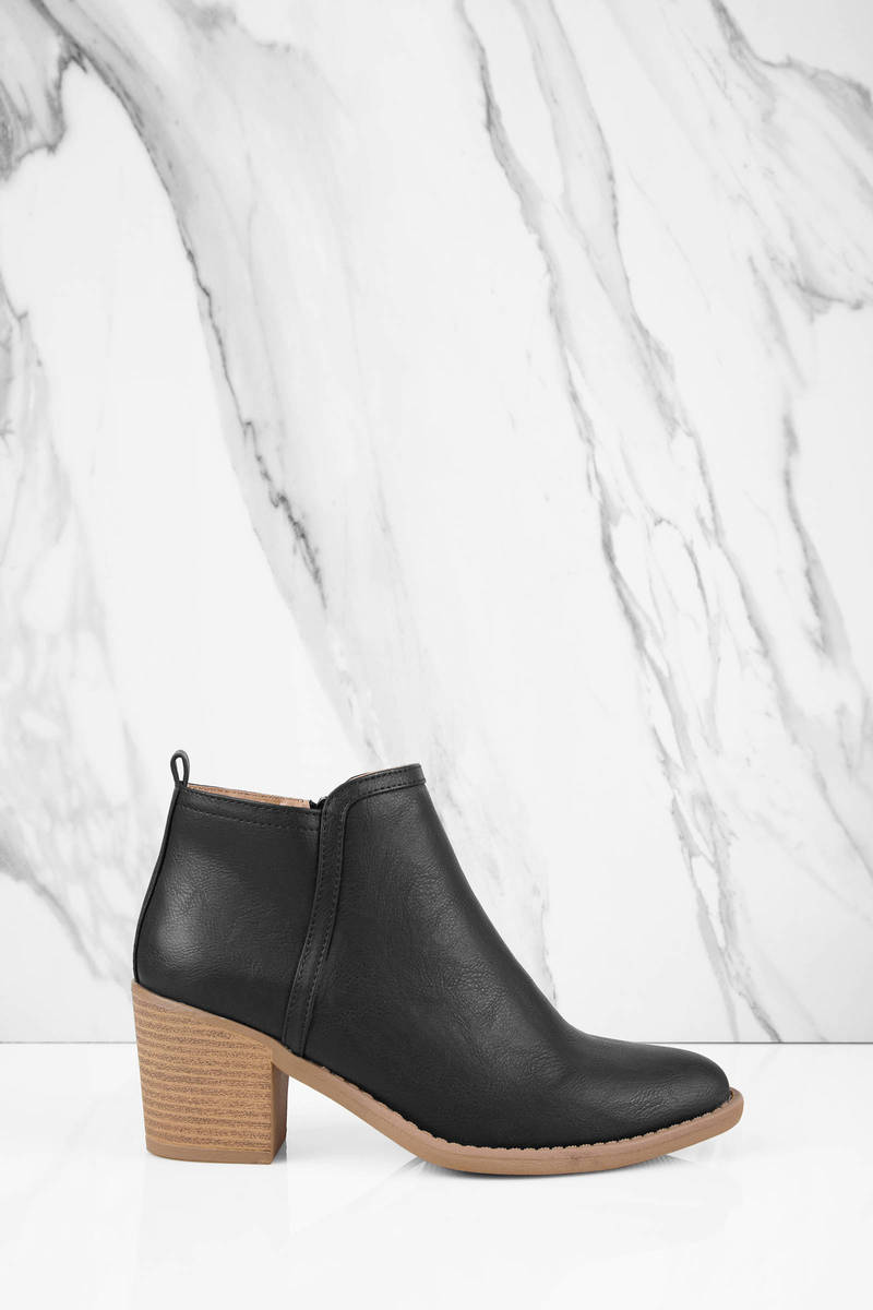 Tony Faux Leather Ankle Boot