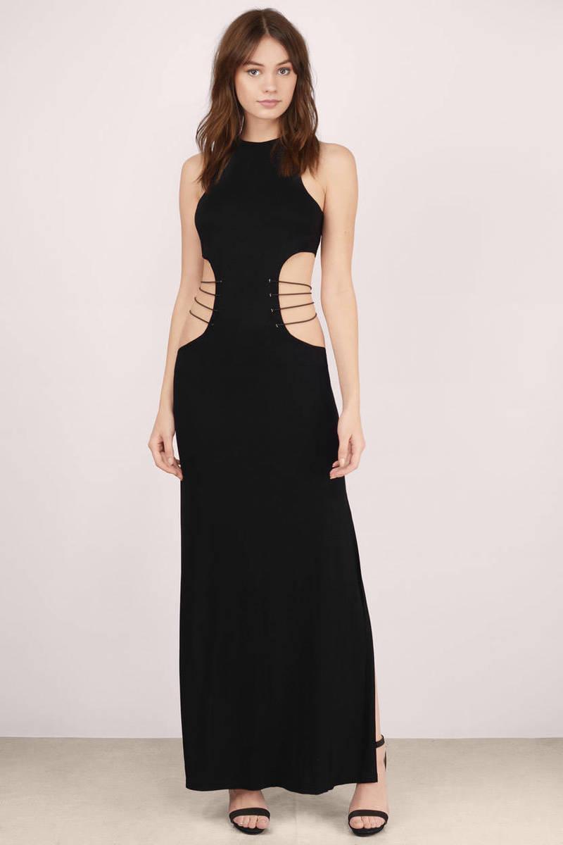 Trust Me Black Maxi Dress