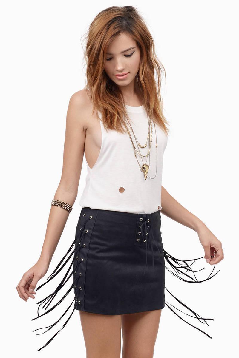 Twang And Slang Mini Skirt