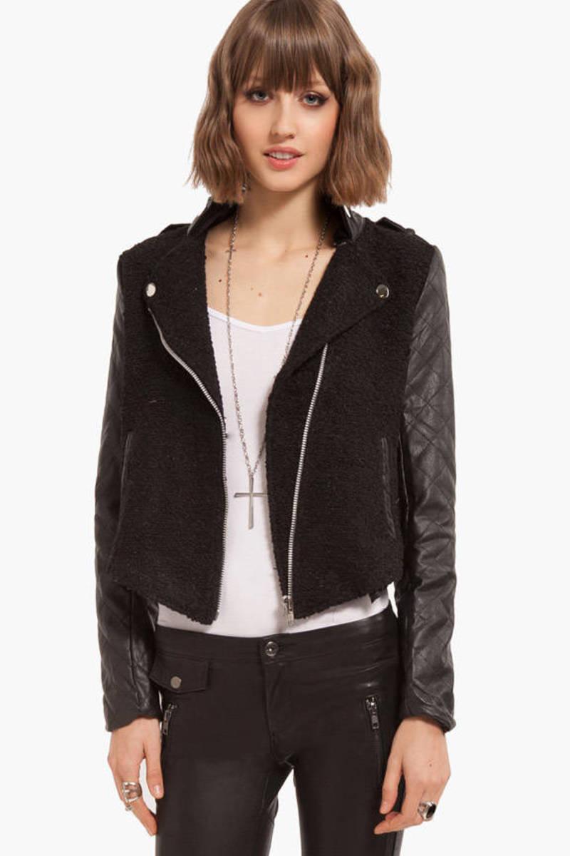Tweedle Quilt Leather Jacket