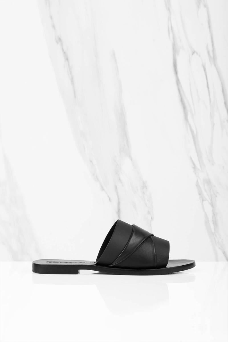 Sol Sana Sol Sana Twisted Strap Black Slides