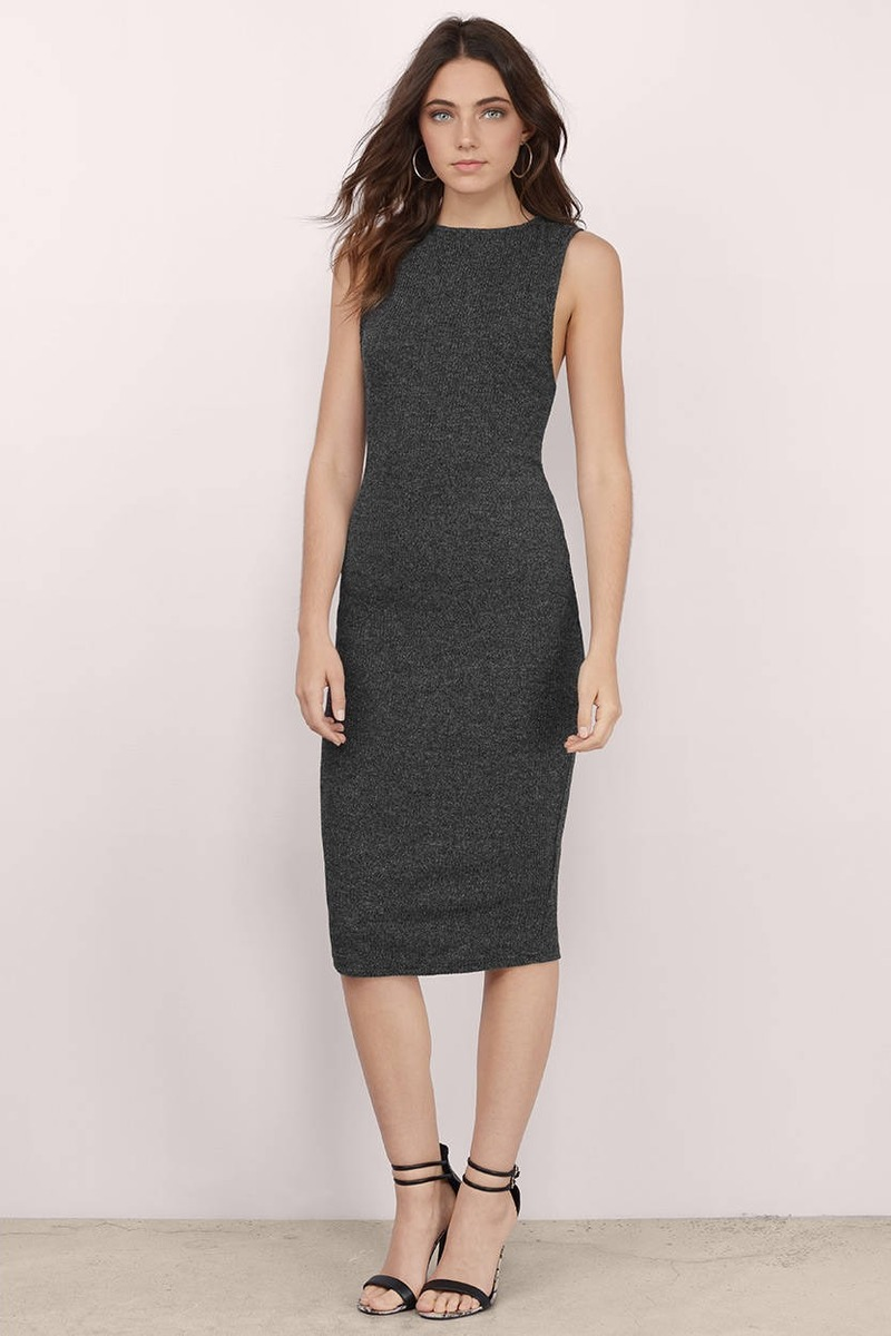 Truth Grey Midi Dress