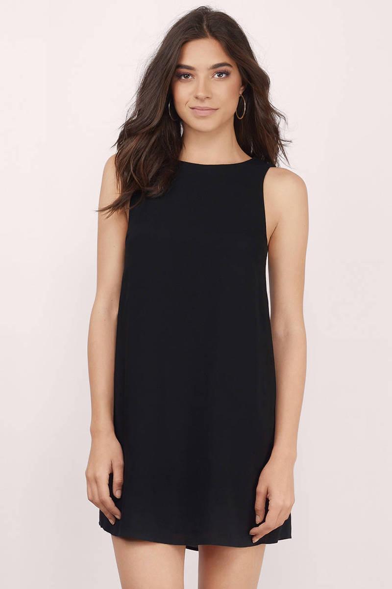1e6f43fcaf0 Cute Black Shift Dress - Sleeveless Dress - Shift Dress - € 27