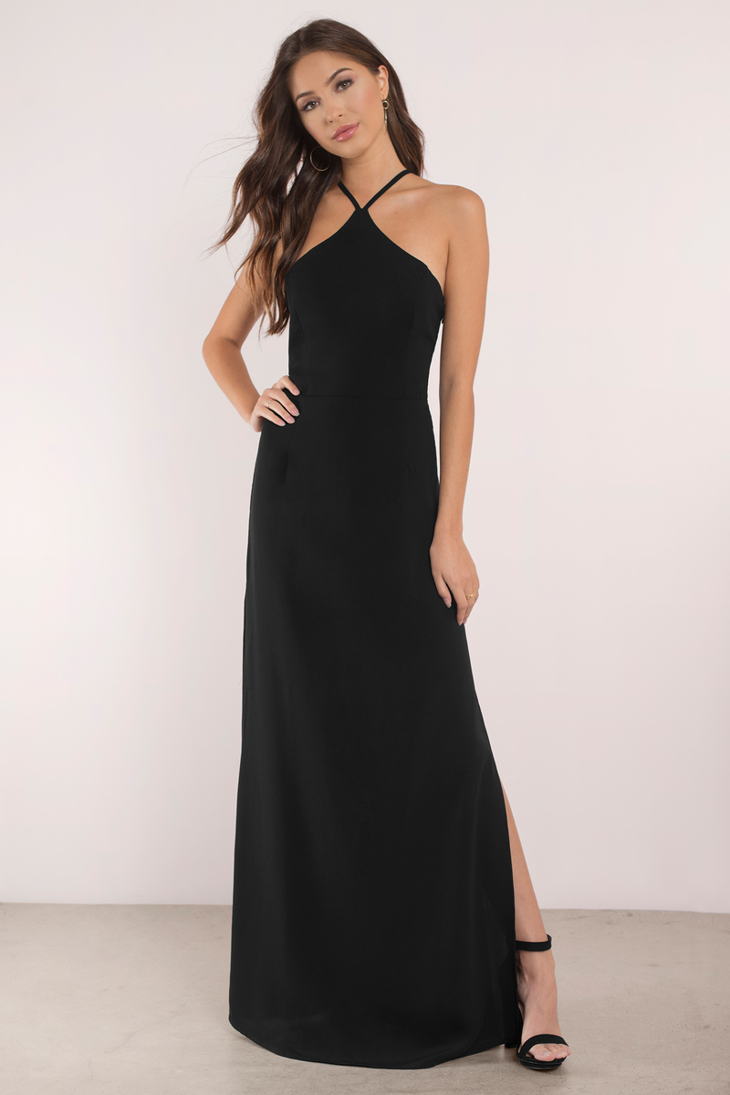Black dress long maxi dress