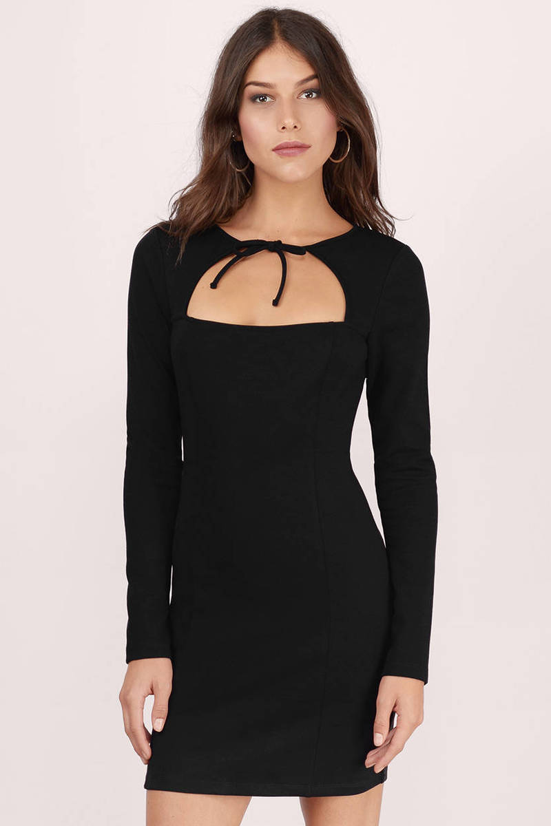 Valley Black Bodycon Dress