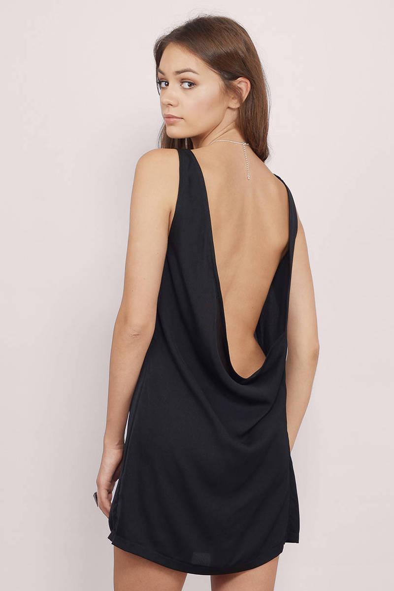 Vanora Black Shift Dress