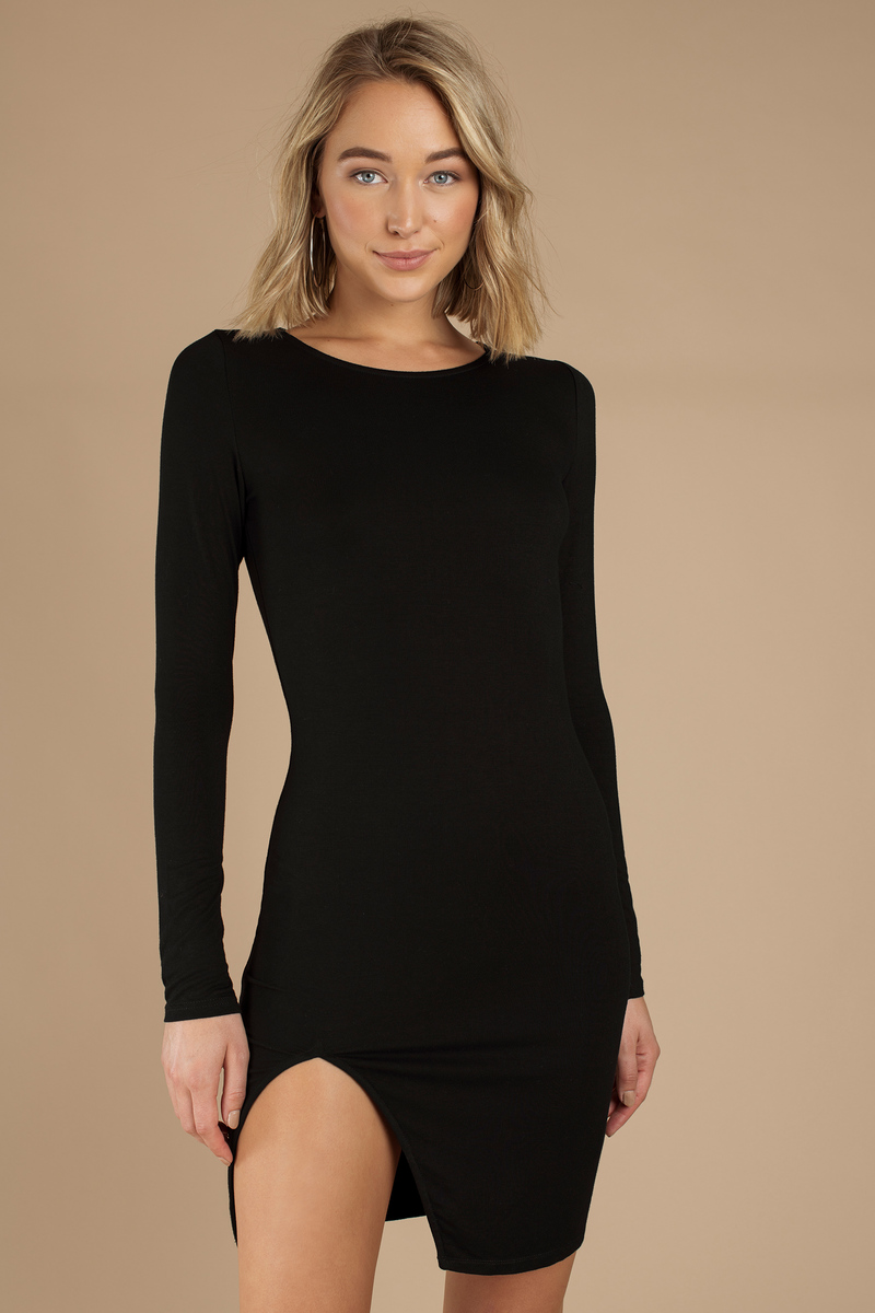 Vene Black Midi Dress