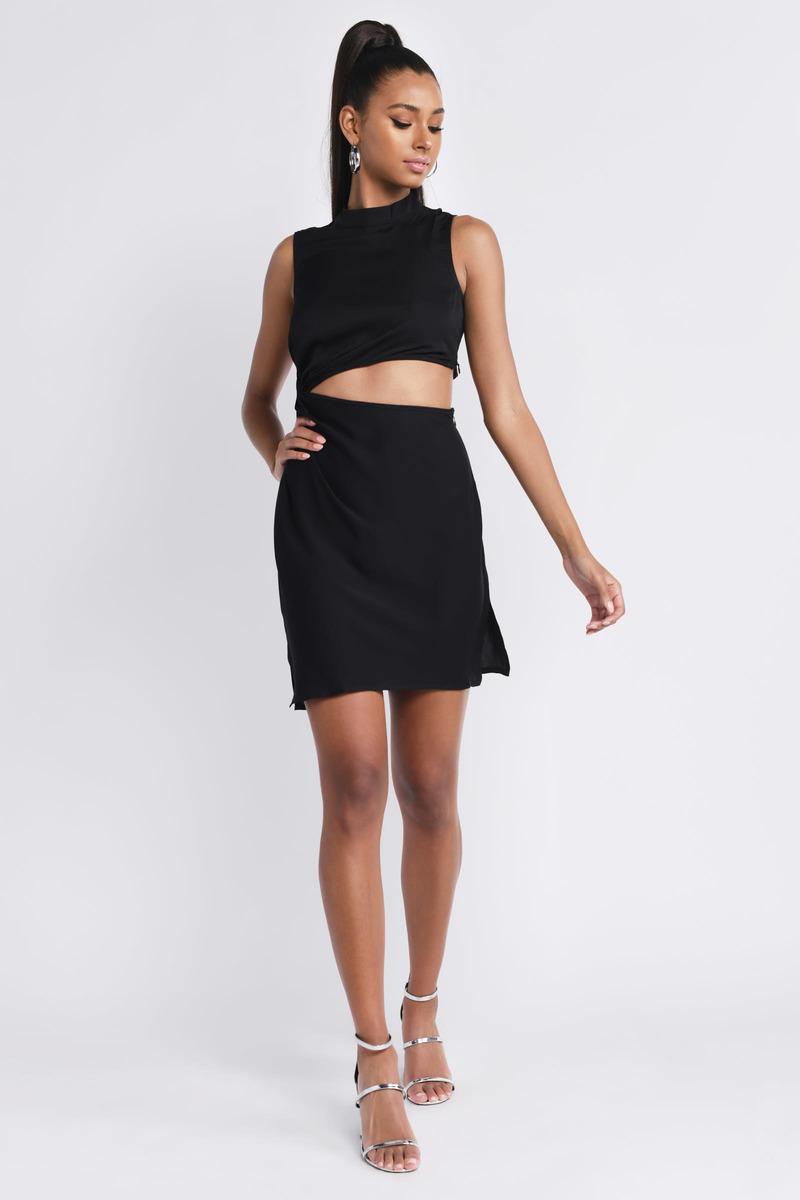 Veronica Black Cut Out Dress