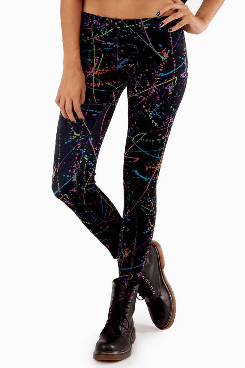 Very Splatter Paint Leggings