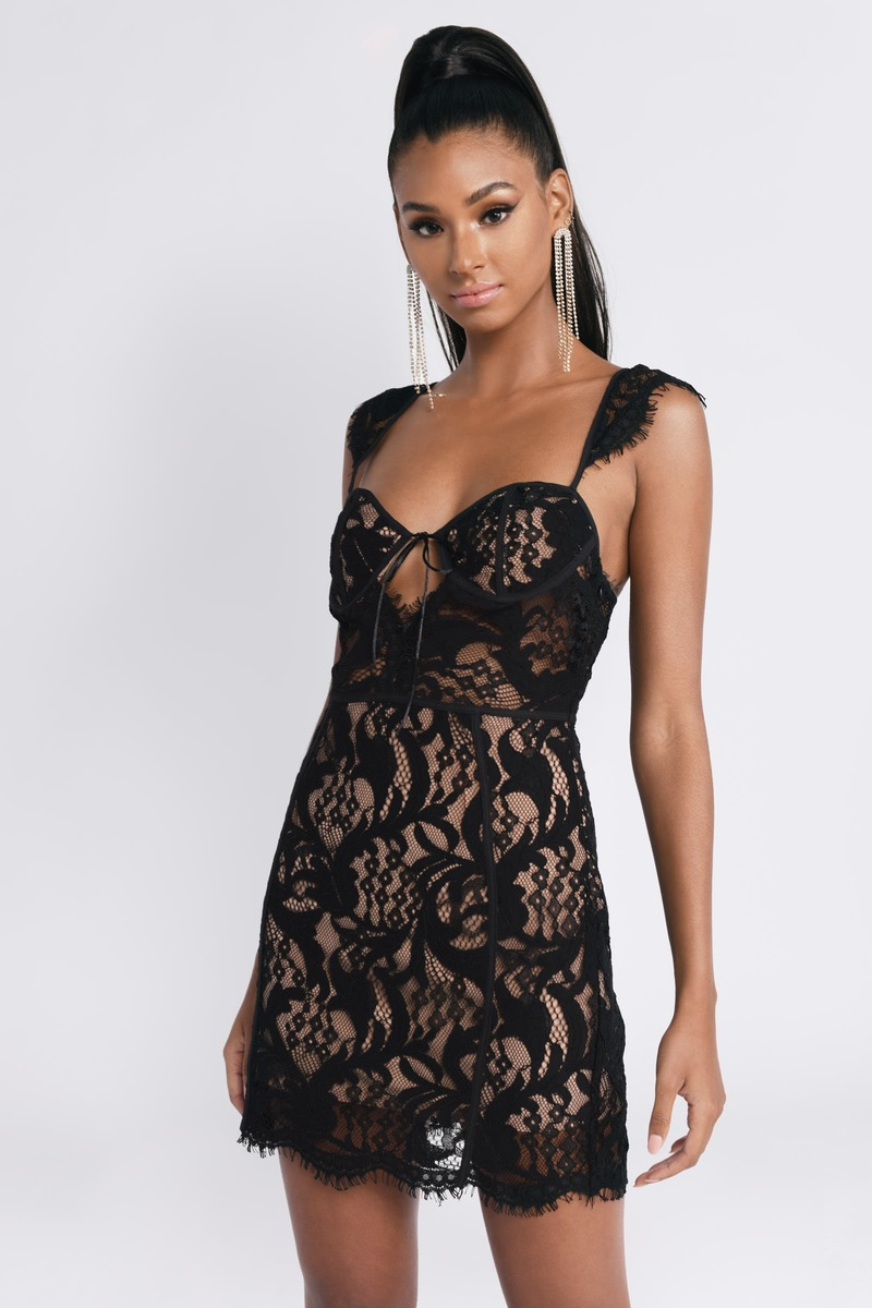 Black Bodycon Dress Cap Sleeve Bodycon Dress Black Lace Dress