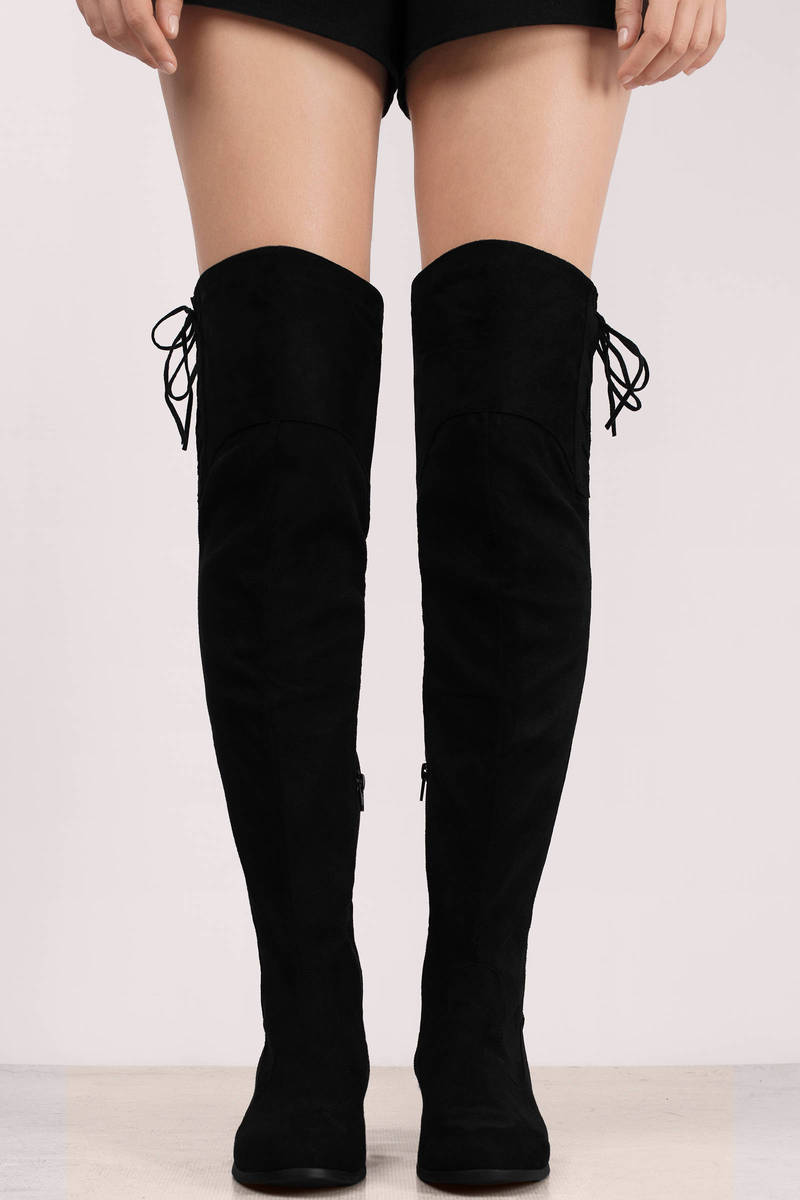 Vita Black Knee High Boots