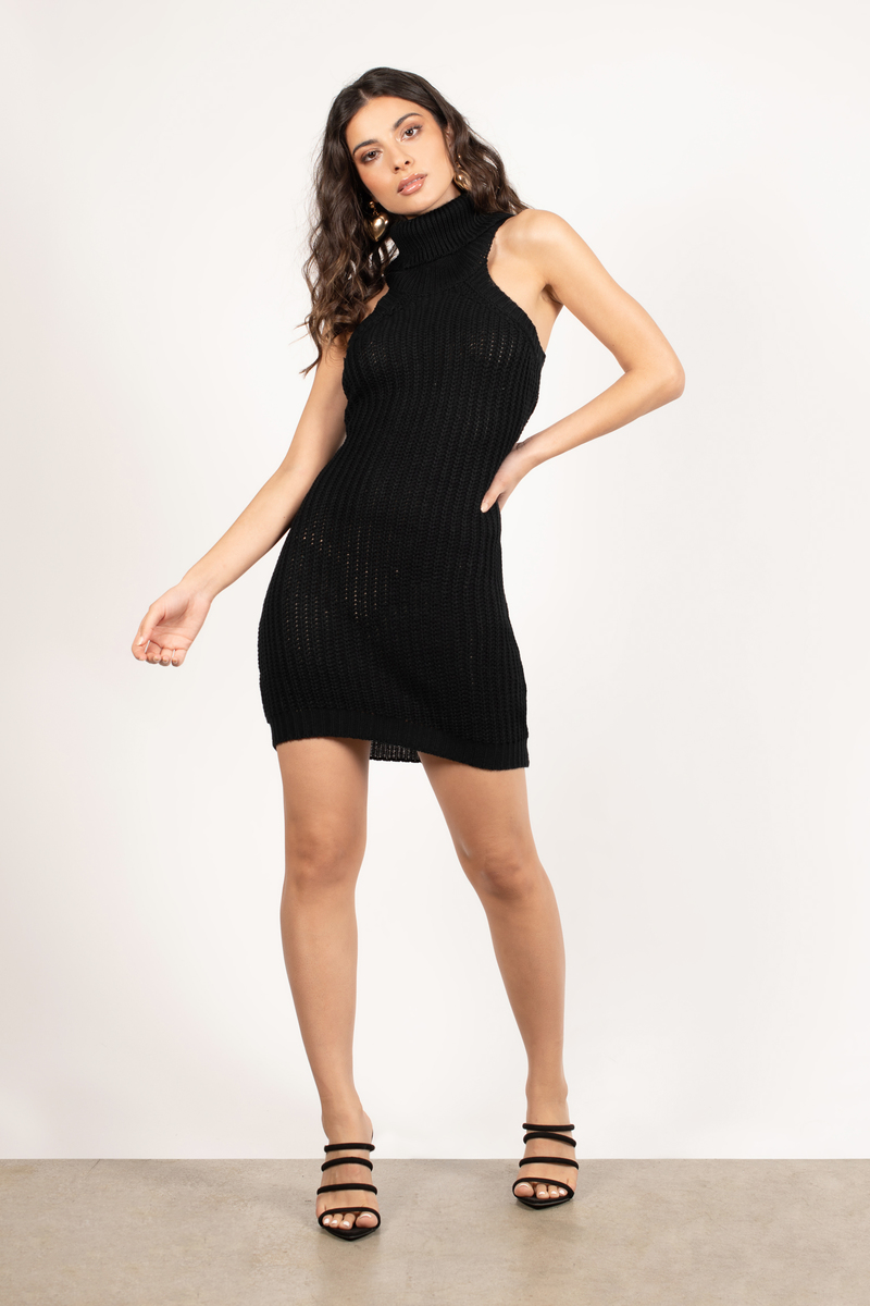 Warmer Nights Black Bodycon Dress