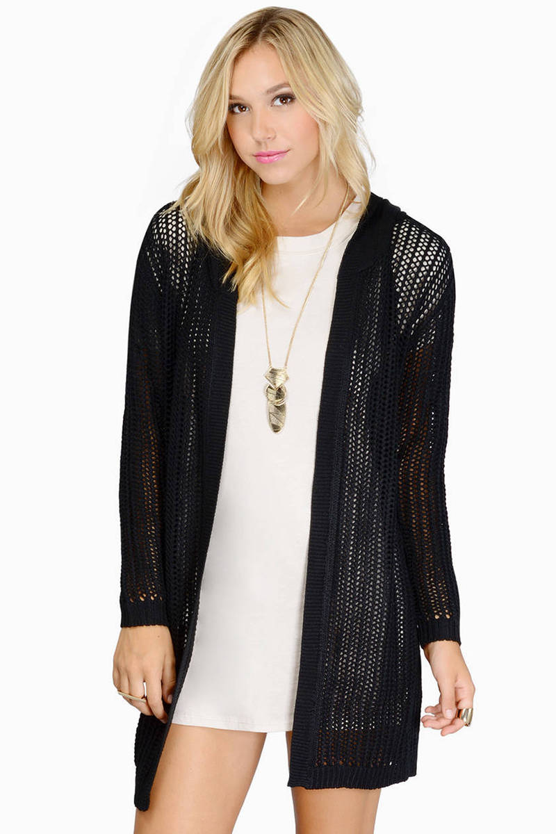 Warmest Alibi Black Cardigan