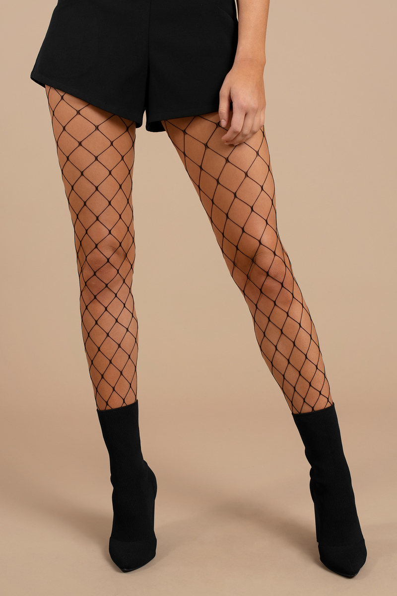 Watch Me Black Fishnet Tights