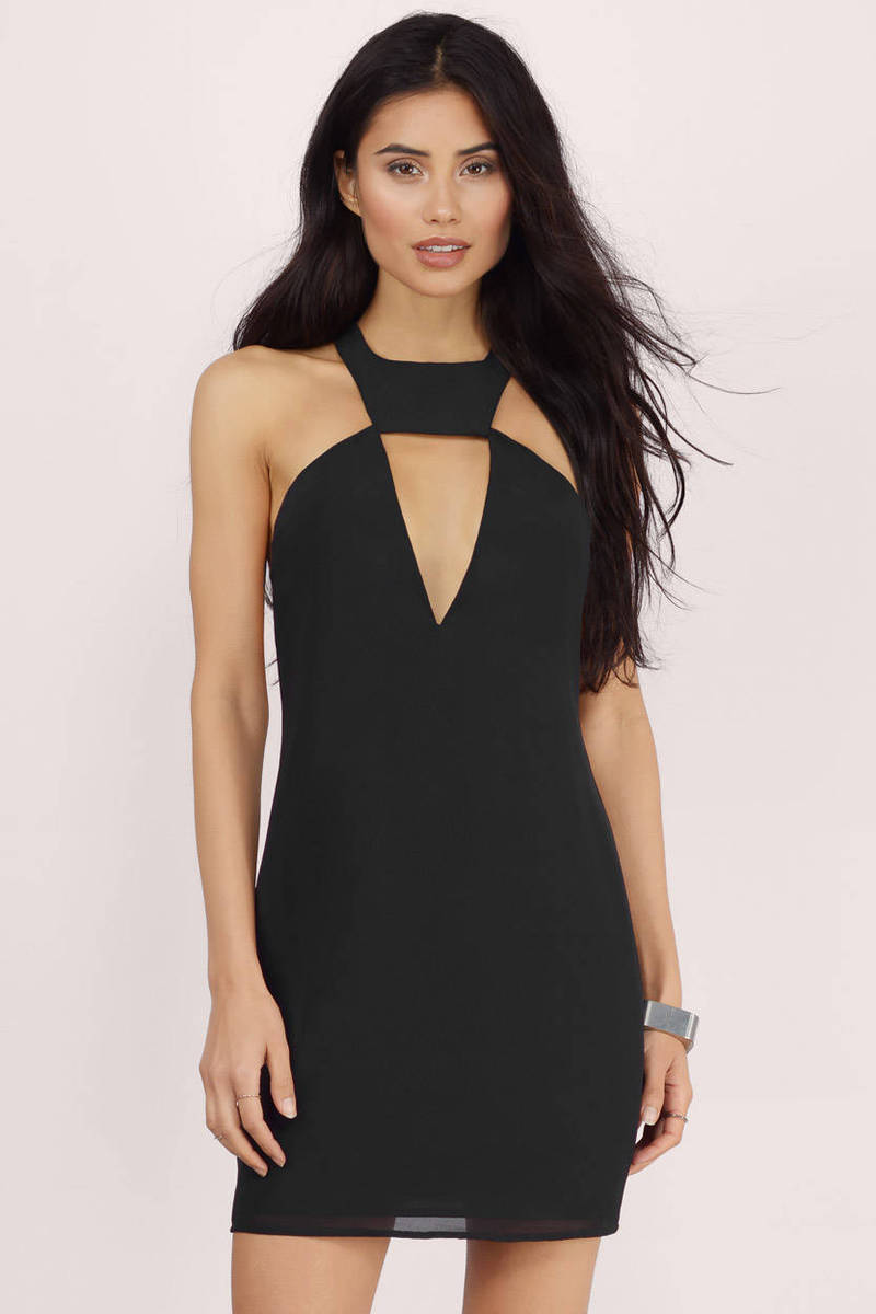 Black Shift Dress - Black Dress - Open Back Dress - $13.00