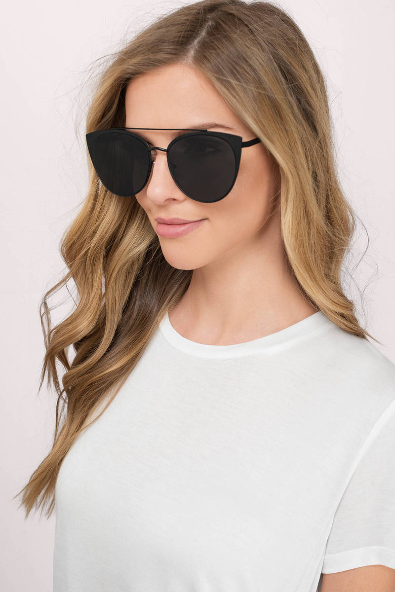 Where Are You Mocha Brow Bar Sunglasses