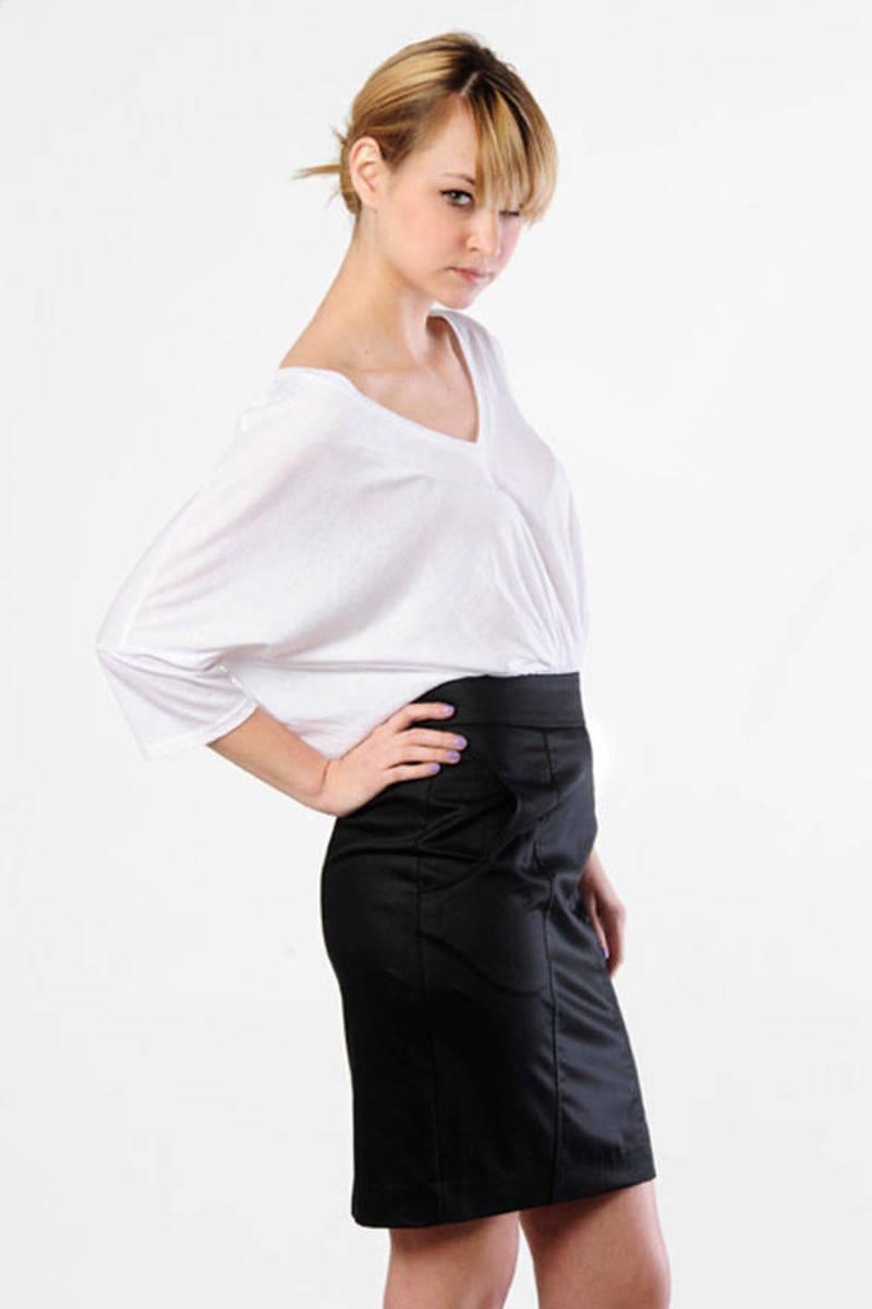 08188aef4da0 Black Pencil Skirt Dress With Sleeves