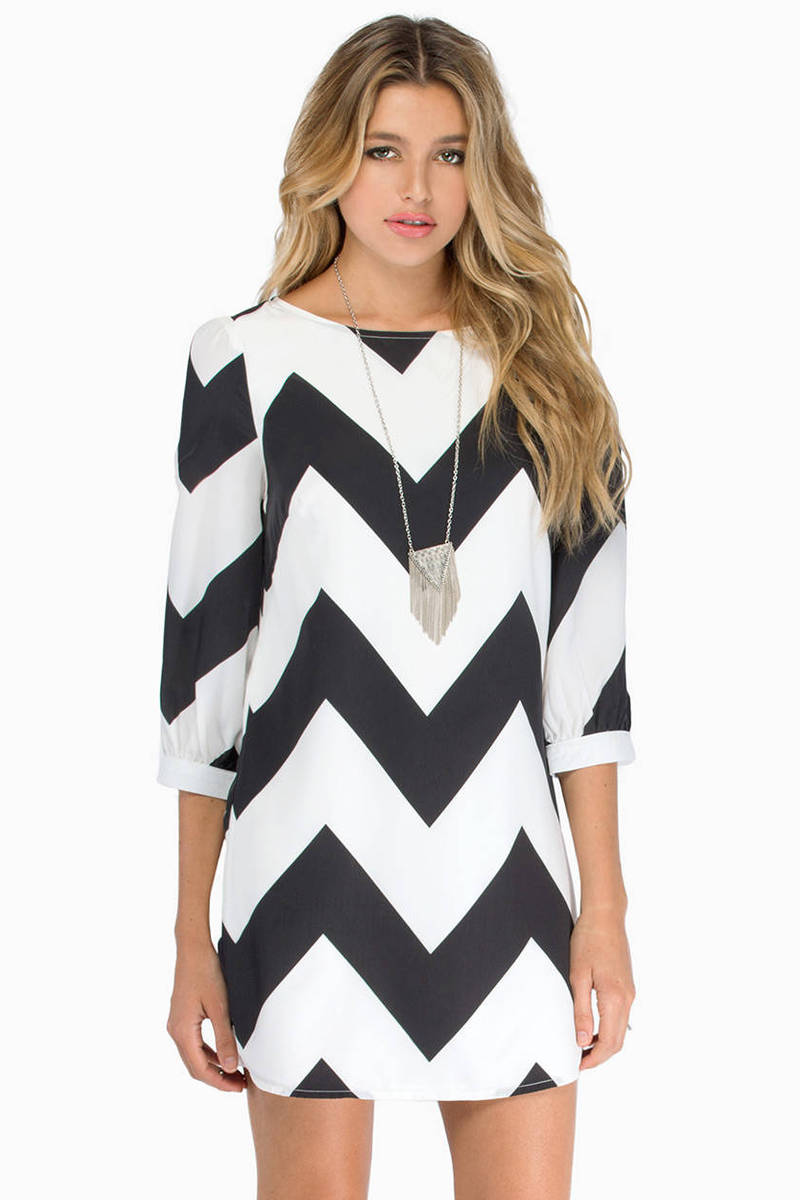 Linus Zig Zag Shift Dress