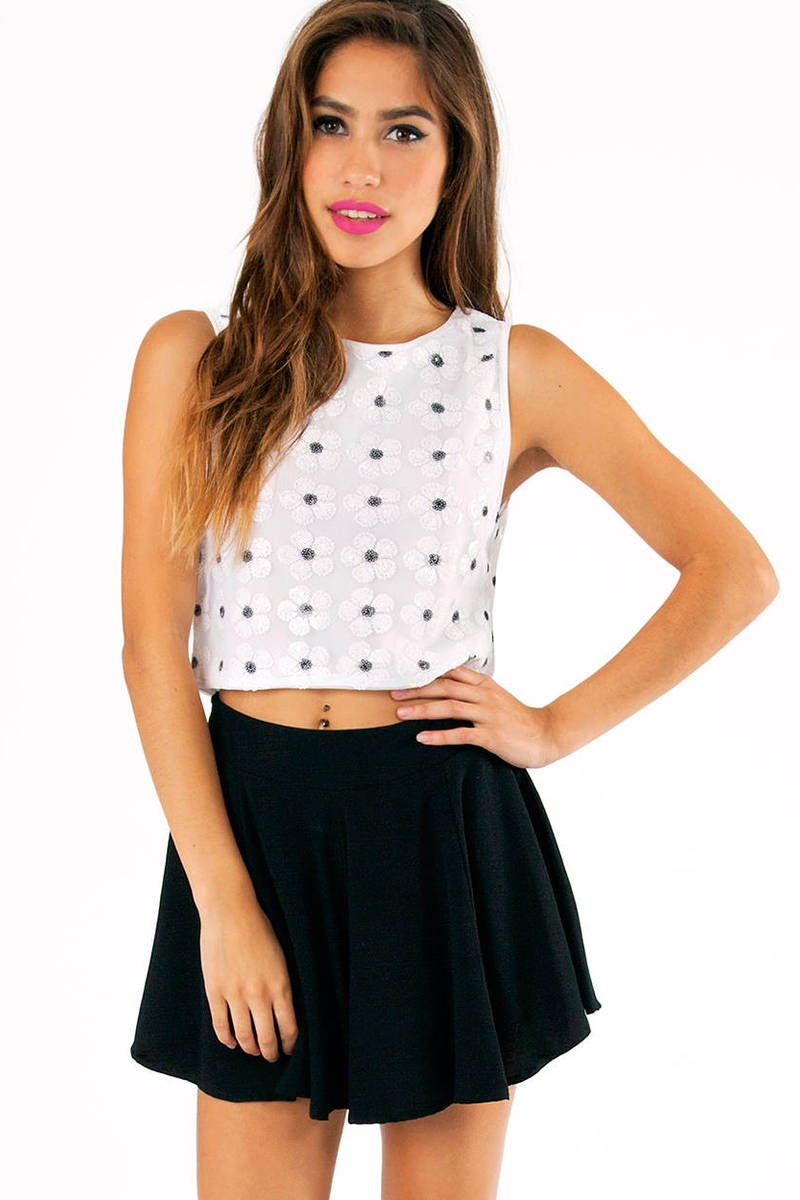Miss Daisy Sequin Crop Top