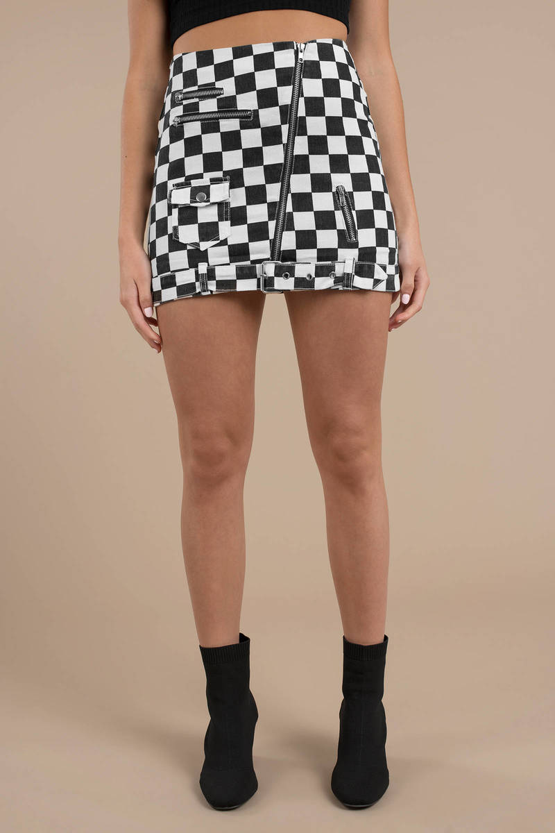 delicate colors popular brand order online Rock Steady Checkered Skirt