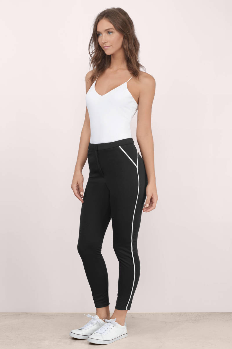 Sporty Spice Black & White Pants