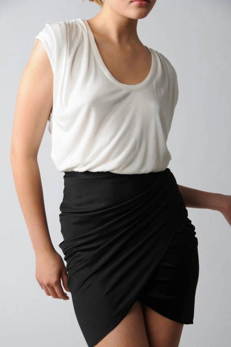 Alexander Wang Dress Black Office Dress Silky Skirt Dress 296