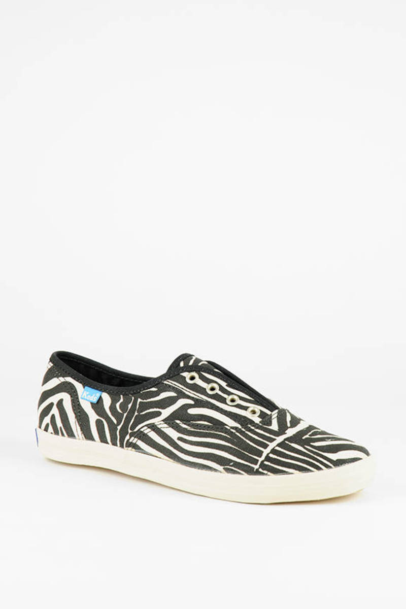 26fa933439dfc Zebra Print Laceless Champion Sneakers
