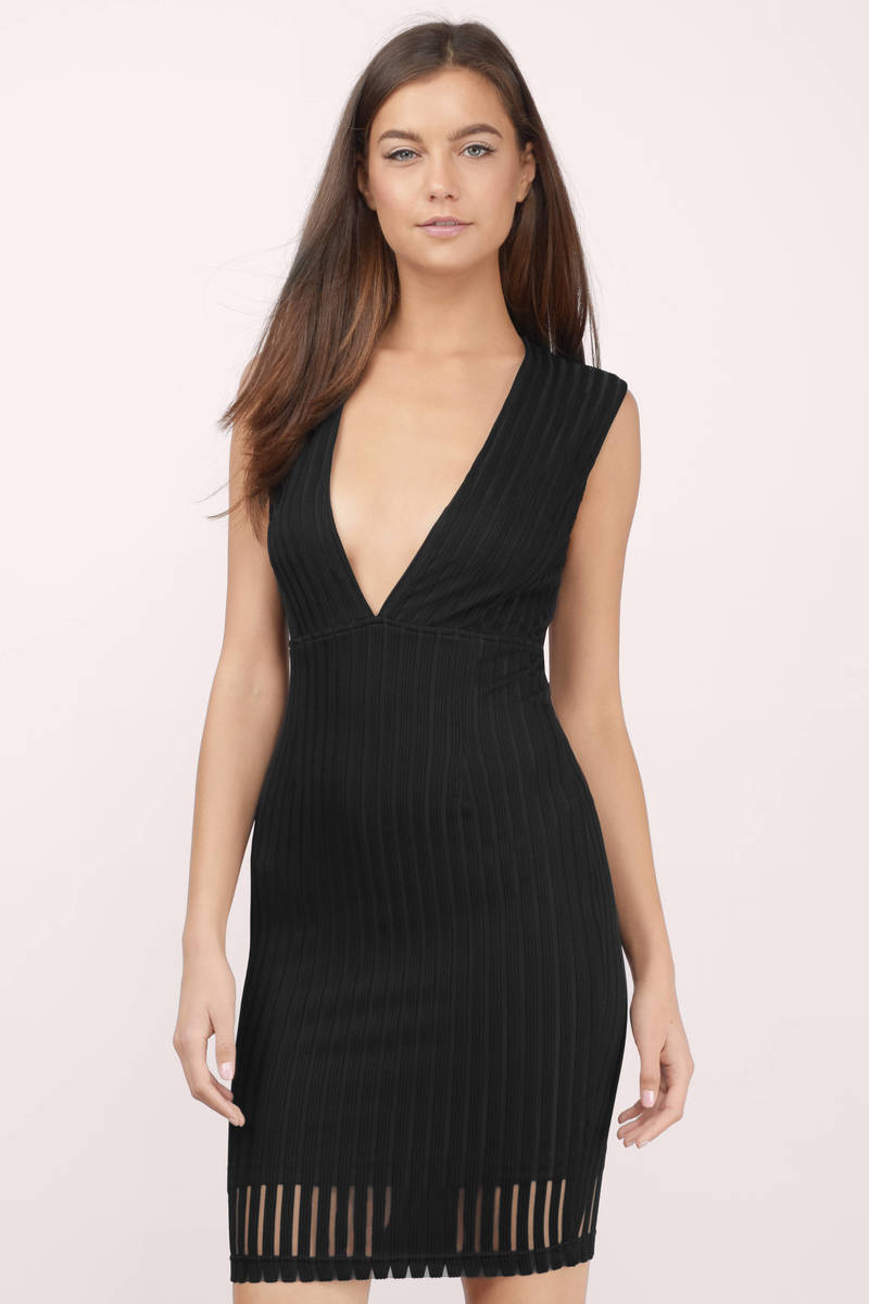 Whitney Black Sheer Midi Dress