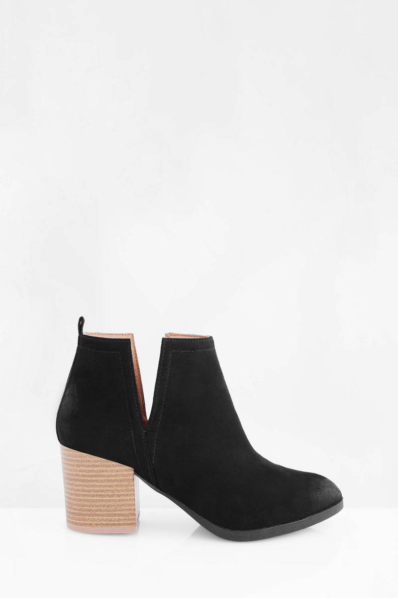 Wilson Black Suede Booties