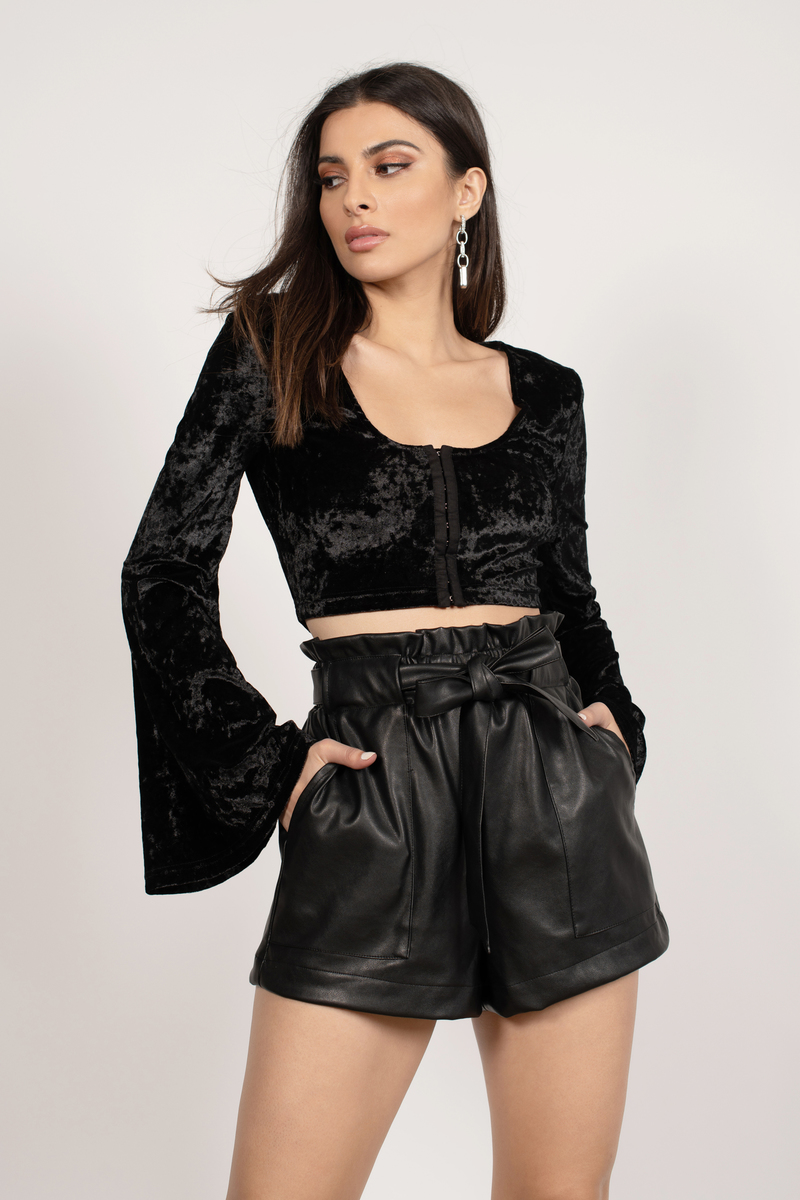 Witching Hour Plum Crop Top