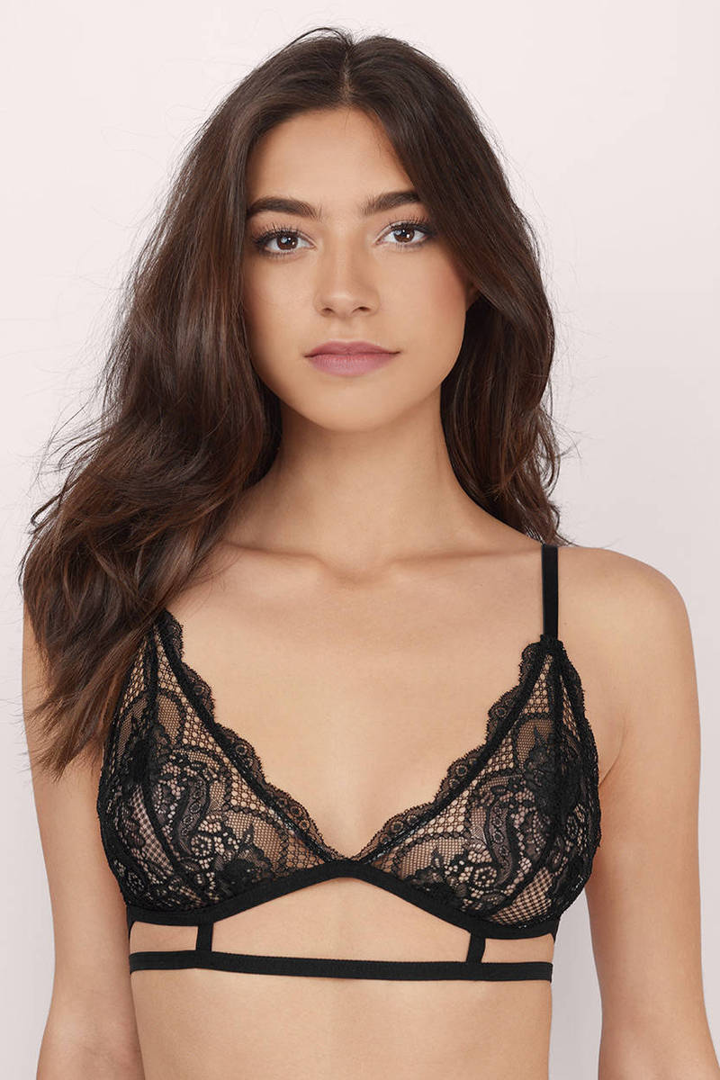 With Every Breath Black Lace Bralette