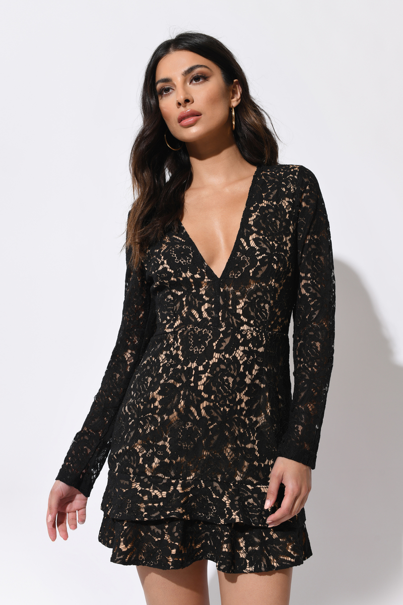 3de7f1e5ad72 With You Black Lace Dress -  29